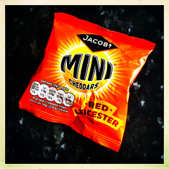 Snack Attack (Julie (thanks for 8 million views)) Tags: 100xthe2019edition 100x2019 image37100 hipstamaticapp iphonese cheddars food advertising squareformat colour bright orange