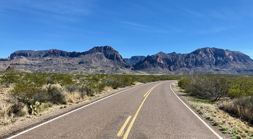 Chisos Mountains from Ross Maxwell Scenic Drive