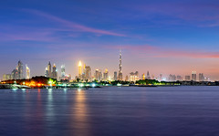 _DS20285 - Dubai Downtown skyline at blue hour (AlexDROP) Tags: 2019 dubai uae emirates arab twilight architecture art tower travel color cityscape skyline nikond750 tamronaf1735mmf284diosda037 best iconic famous mustsee picturesque postcard bluehour longexposure hdr