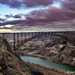 Perrine bridge Twin Falls Idaho soans over the Snake River at sunrise