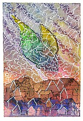Bird 196 (Pax30091) Tags: arches aquarelle acuarela bird serie inkt watercolour aquarell 水彩画 acquerello aguarela акварель