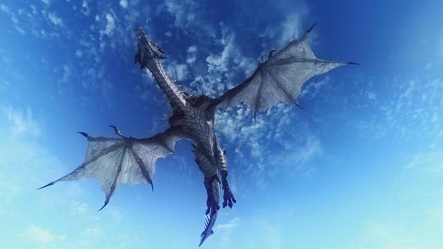 Обои дракон, небо, полет, 3d картинки на рабочий стол, фото скачать бесплатно