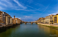 Arno River in Florence (Epaminondas M) Tags: city break cityscape canal bridge building exterior popular tags arnoriver tuscany italy florence river sky color old town canon waterfront outdoor