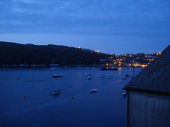 Fowey Harbour, Cornwall (RossCunningham183) Tags: fowey cornwall uk england harbour boats bluehour yachts night