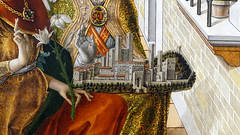 Crivelli, The Annunciation, detail with model city