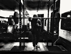 79/365 Late Night Squats (Charlie Little) Tags: carlisle cumbria gym workout bodytek bodybuilding exercise p365 project365 cameraphone mobilephotography blackandwhite bw mono leica snapseed huawei p20pro