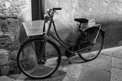 Black&White dots (s_andreja) Tags: bicycle street bw dots tuscany