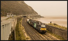 Conwy Morfa 22nd (peterdouglas1) Tags: valleyflasks 6k41 directrailservices class88 88007 electra 88003 genesis morfaconwy northwalescoastrailway northwalescoast penmaenbach