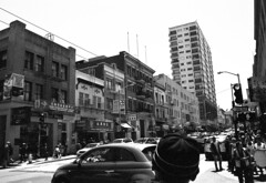 (blakeboulka) Tags: 35mm blackandwhite ilford delta100 film bw delta bnw walking exploring chinatown sanfrancisco grainy manual analog nikon f3