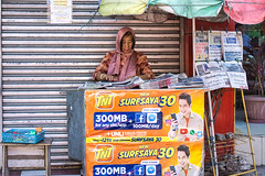News (Beegee49) Tags: street woman newspaper stand luminar news sony a 6000 bacolod city philippines asia happy planet happyplanet asiafavorites