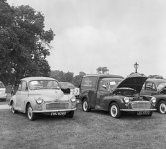 Shropshire Branch Rally - 28/05/18 (CamShaw74) Tags: yashica d kodak portra 400bw expired film iso 200 epson v800 metal sculptures morris minor