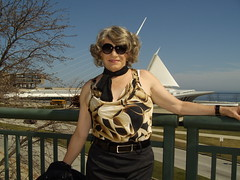 From That Unseasonably Warm March We Had Seven Years Ago (Laurette Victoria) Tags: sunglasses laurette woman animalprint milwaukee