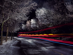 night after the ice-storm (marianna armata) Tags: montreal pierrefonds qc canada spring weather cold ice street urban canadian light longexposure mariannaarmata