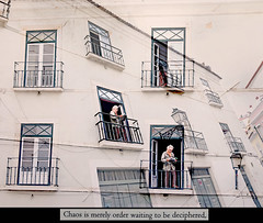The Double (kirstiecat) Tags: thedouble man windows multipleexposure creative artistic architecture portugalia lisbon lisboa read reading magazine book novel fiction josesaramago chaos