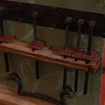Detalle parte trasera del órgano portátil