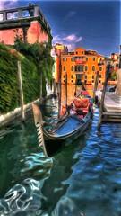 Venetian Gondola (glenn2meyer) Tags: gondolas venice travel colorful watercolor italy water grand canal dock vacation painted look sony a6000