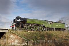 LNER Peppercorn Class A1 No 60163 Tornado - Approaching Wansford, Cambridgeshire. (Andrew Bradford Images) Tags: steam locomotive steamlocomotive steamengine tornado lner classa1 60163 lnerpeppercornclassa1 nenevalleyrailway nvr