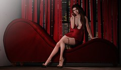 There's a shade of red for every woman (Aleriah.) Tags: astralia avaway dad foxcity kinkyevent n21 purepoison salon52 secondlife sl stealthic theepiphany una virtualfashion virtualgirls
