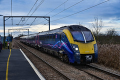 180109 - Waterbeach - 13/01/19. (TRphotography04) Tags: hull trains adelante 180109 screeches past waterbeach working diverted 1h09 1255 london kings cross