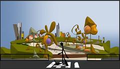 Parque central (Valencia) (Amparo Higón) Tags: valencia parquecentral comunidadvalenciana árboles trees people gente cieloazul blusky digitalart digitalpainting modernart kunst modernekunst coreldraw amparohigón