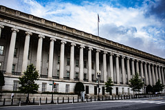 Department of the Treasury (jfre81) Tags: washington dc district columbia government building architecture department treasury long end fed columns colonnade greek style cash money greenbacks debt print mint notes dollars america united states