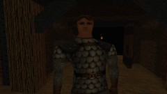 What Difficulty? (Platemail) (BarricadeCaptures) Tags: kingsquest kingsquestmaskofeternity maskofeternity undergroundrelamofthegnomes underground undergroundtunnel connorofdaventry connor chainmail platemail torch flame gamescreenshots gamephotography videogame screencapture screenshot