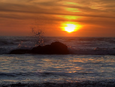 Pacific Sunset (fractalv) Tags: california pacificcoasthighway cayucos pacific ocean sunset beach