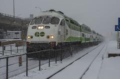 GO 2 (Paul B0udreau) Tags: canada ontario paulboudreauphotography niagara d5100 nikon nikond5100 snowstorm toronto city street winter photoshop layer gotrain nikkor50mm18 rail