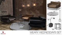 NEW! Weary Wednesday Set @ N21 (Bhad Craven 'Bad Unicorn') Tags: seats sofa chair leather recliner lil yatchy yachty boat interview ottoman ottomen cage metral steel caged books lamp top circular round rugs hanging lamps decor furniture