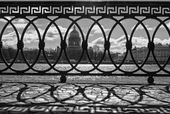 Saint Petersburg (ivan_ko) Tags: nikon d3000 afs 1855 nikkor bw blackandwhite saint petersburg russia urban landscape fence