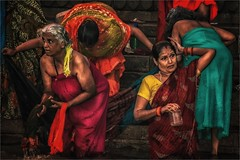 Morning rituals at the Ganges river III (felixvancakenberghe) Tags: asia asian people hinduism india women varanasi