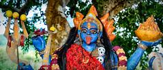 MAURITIUS near Tamarin (stega60) Tags: mauritius tamarin kali goddes hindu hinduisme shrine hindugöttinkalikalishrinekalitantricgoddess colors blue red panoramic pano hdr stiched stega60