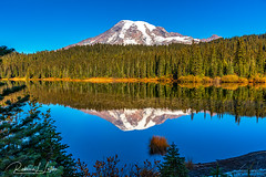 Late Morning Reflections, Mount Rainier National Park (rebeccalatsonphotography) Tags: mountain volcano lake reflection reflections reflectionlake nationalpark np mtrainier mountrainier wa washington landscape rebeccalatsonphotography canon