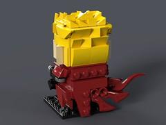 Vash The Stampede - Trigun BrickHeadz MOC (headzsets) Tags: lego legos photography brickheadz brickheads brickhead brick heads head toy toys funko pop anime manga otaku trigun vash stampede minifig minifigures minifigure moc mocs ideas