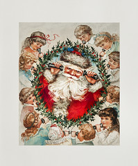 Vintage Santa Claus on a Christmas card (Free Public Domain Illustrations by rawpixel) Tags: pdproject20 pdproject20batch44 pdproject22 vector pdproject20batch44x antique art arts artwork beard card celebrate celebration children christmas colorful cord december drawing festive greetingscard historic historical history holiday holidaycard holidaypostcard holly hollyleaves illustration kids leaves listening merry painting people postcard print publicdomain red retro santa santaclaus santaclausonstringphones santaclausonthephonewithseveralchildren smile speaking string stringtelephone talking vintage watercolor wishes wreath xmas