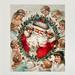 Vintage Santa Claus on a Christmas card