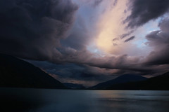 Shuswap Sunset [Explored] (Jordan Jamieson) Tags: clouds sunset sunbeam bright lake water shuswap islands britishcolumbia canada sky