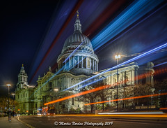 St Pauls Light Trails (Martin Norden) Tags: 3leggedthingleo afternoon area bluehour dawn dusk equipment evening generalareawherepicturetaken landscape lighttrails london longexposure miscellaneous morning nighttime nikkorz2470f4sline nikonz7 oddsandsodsnoteasilycatalogged portrait seascape stpaulscathedral timeofday tripod typeofimage urbanlandscape waterscape blur