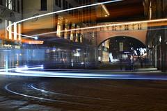 Munich - Tram 19 (cnmark) Tags: germany munich münchen deutschland bayern bavaria maffeistrase theatinerstrase pedestrianszone fussgängerzone tram strassenbahn line linie 19 moving movement action light trails streams altstadt station haltestelle night nacht nachtaufnahme noche nuit notte noite ©allrightsreserved