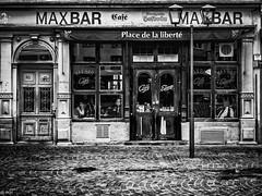 Maxbar - Liberte (michaelhertel) Tags: sw monochrome bw street heidelberg deutschland germany travelrestaurant bar cafe