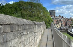 Walking the walls of York (Tony Worrall) Tags: york yorkshirephotos yorkshire yorks north update place location uk england visit area attraction open stream tour country item greatbritain britain english british gb capture buy stock sell sale outside outdoors caught photo shoot shot picture captured ilobsterit instragram relic history past walls yorkwalls walkway scenic scenery church rail