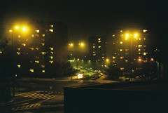 000015 (dominika.pancerz) Tags: 35mm analog analogue canon canoneos1000 kodak kodak200 city citylights night krakow