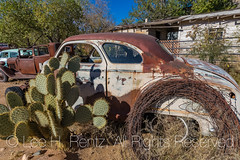 Old Car at Hackberry General Store along Historic Route 66 in Arizona (Lee Rentz) Tags: america arizona dustbowl getyourkicksonroute66 hackberry hackberrygeneralstore historicroute66 mainstreetofamerica northamerica route99 steinbeck thegrapesofwrath usroute66 us66 willrogershighway americanwest americana artifacts cactus car fun goodtimes highway historic history horizontal icon iconic memorabilia memories memory nationalscenicbyway nostalgia nostalgic old past road roadtrip route rusty sentiment sentimental shop store themotherroad thewest time transportation usa weathered