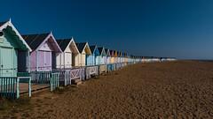 West Mersea Beach Huts (pboolkah) Tags: colchester england unitedkingdom gb canon essex mersea canon5d canon5dmkiv sea sand beach huts sky