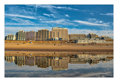 Huis Ter Puin (Bob Geilings) Tags: noordwijk hotel bluesky blue clouds water sea sand beach boulevard huisterduin sunday stroling reflection