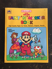 Super Mario Bros Paint n Marker Book 1989 Nintendo_01 (gamescanner) Tags: nintendo mario bros coloring book golden kids activity video games 1989 isbn 030701598x 03350015984