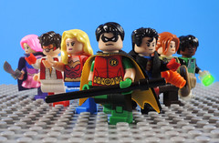 Bendis Young Justice (-Metarix-) Tags: lego super hero minifig young justice bendis 2019 rebirth universe amethyst impulse wondergirl robin superboy jenny hex teen lantern dc comics comic heroes custom