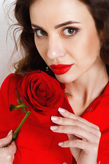 портрет (julia.doroshkevich) Tags: девушка роза портрет фотосессия студия