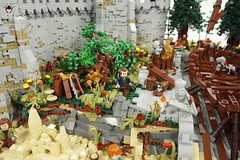 Lond Daer - Woodcutter + fresh cut tree (Barthezz Brick) Tags: lego lond daer middle middleearth medieval fantasy moc afol barthezz barthezzbrick brick custom lotr lord rings lordoftherings shipyard pub castle wall city