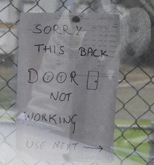 Sita #293 Defective Door Sign (damoN475photos) Tags: sita 293 defective door sign thornbury 2019